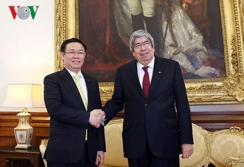 Vize-Premierminister Vuong Dinh Hue besucht Portugal - ảnh 1