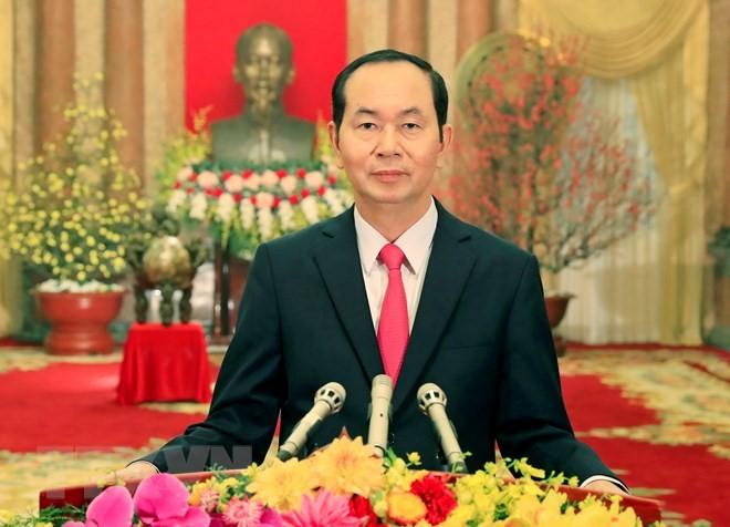 Glückwunsch zum Tet-Fest des Staatspräsidenten Tran Dai Quang - ảnh 1