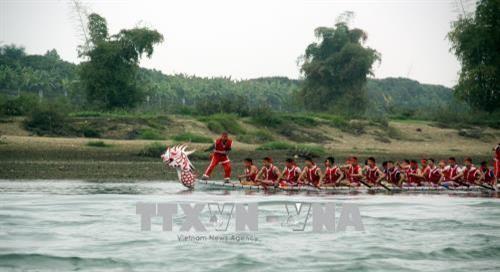 Provinz Tuyen Quang organisiert Bootsrennen auf dem Lo-Fluss  - ảnh 1