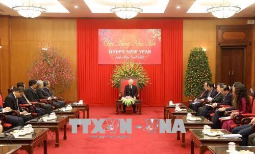 KPV-Generalsekretär empfängt Botschafter der ASEAN-Staaten zum neuen Jahr - ảnh 1