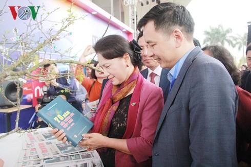 Parlamentspräsidentin besucht das Nationale Pressefestival 2018 - ảnh 1