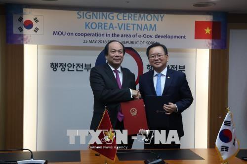 Vietnam informiert sich über das Modell der E-Regierung Südkoreas - ảnh 1