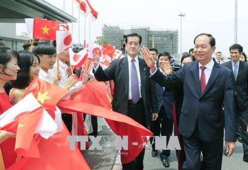 Staatspräsident Tran Dai Quang besucht die japanische Provinz Gunmar - ảnh 1