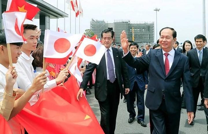 Japans Medien berichten über den Besuch des vietnamesischen Staatspräsidenten - ảnh 1