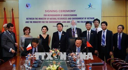 Vietnam und Italien verstärken Zusammenarbeit in den Bereichen Umwelt und Klimawandel - ảnh 1