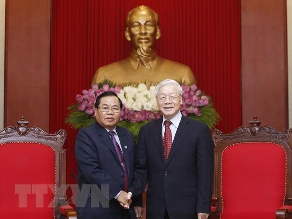 KPV-Generalsekretär Nguyen Phu Trong empfängt den laotischen Vize-Parlamentspräsident - ảnh 1
