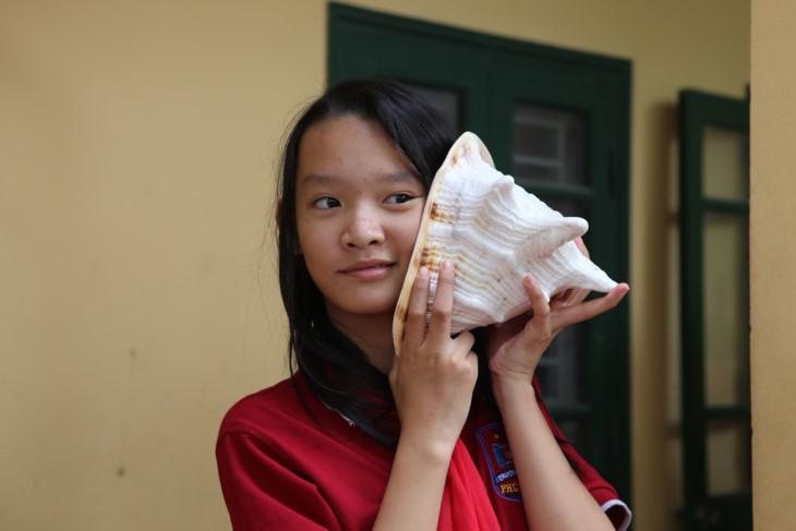 1000 Botschaften der Hanoier Schüler für Truong Sa zur Eröffnungsfeier des neuen Schuljahres - ảnh 6