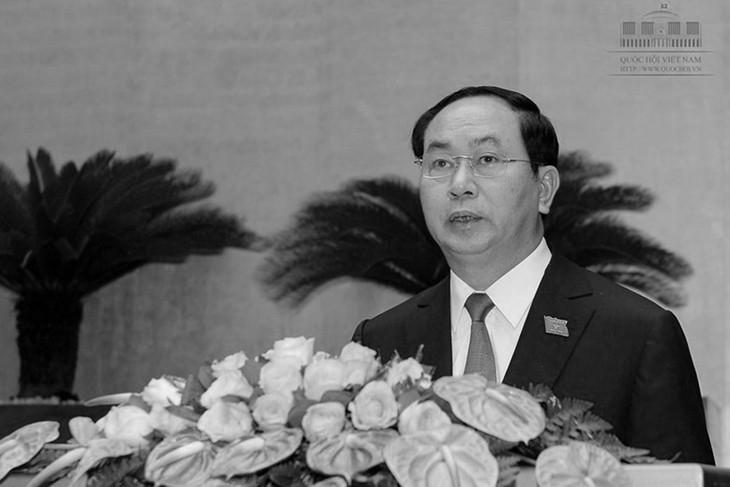 Leiter der Länder, Parteien und Verbände der im Ausland lebenden Vietnamesen trauern um Staatspräsident Tran Dai Quang - ảnh 1
