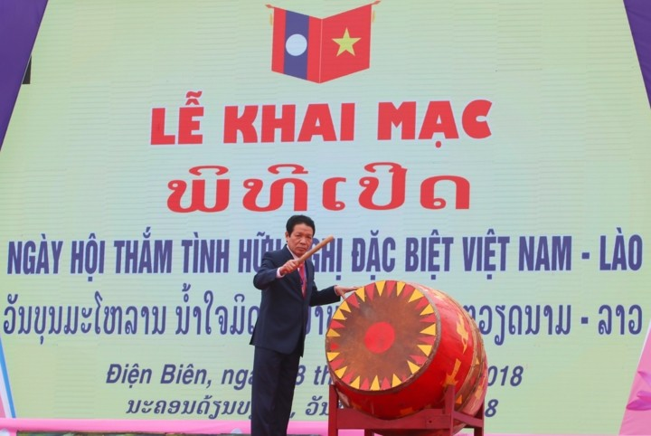 """Eröffnung des Festtags """"Besondere Freundschaft Vietnam – Laos"""" - ảnh 1"""
