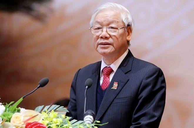 Glückwunschtelegramm zum 50. Jahrestag der Aufnahme diplomatischer Beziehung zwischen Vietnam und Schweden - ảnh 1