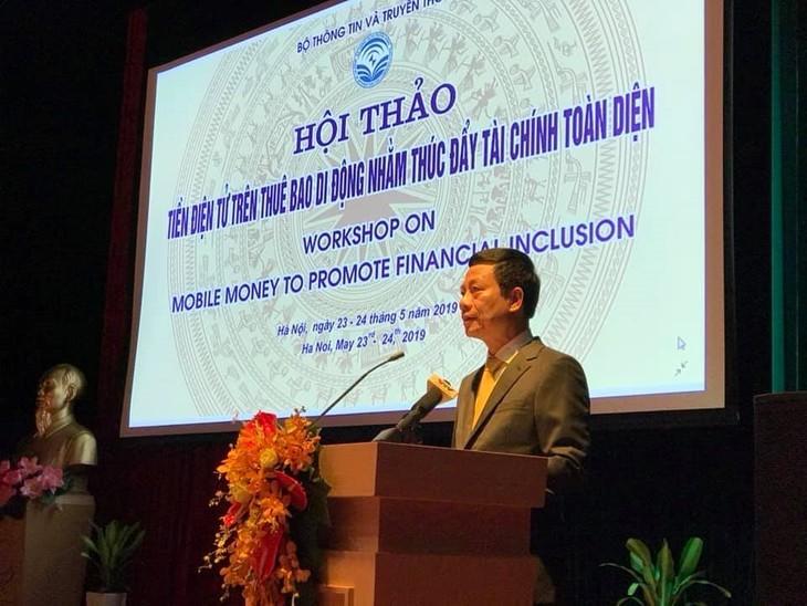 Bereitstellung elektronischer Gelder für Mobilfunkteilnehmer, um die finanzielle Eingliederung in Vietnam zu fördern - ảnh 1