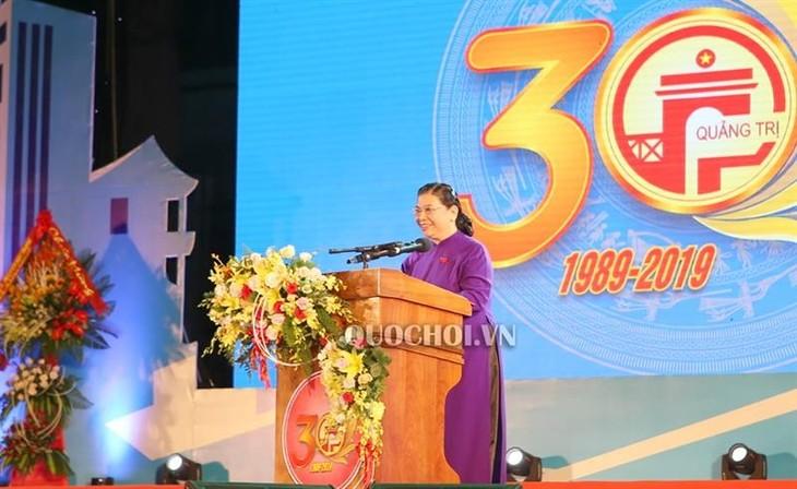 Feier zum 30. Jahrestag der Wiedergründung der Provinz Quang Tri - ảnh 1