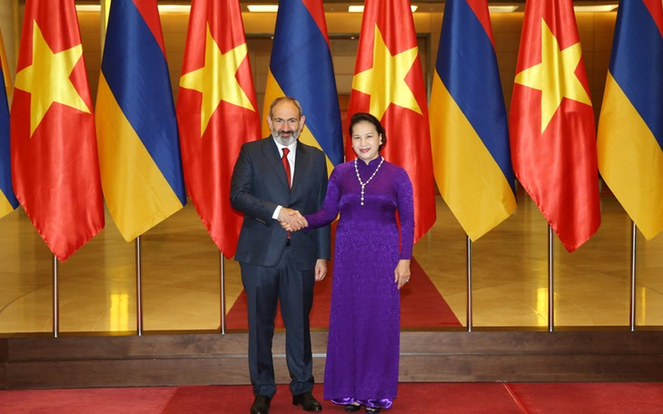 Parlamentspräsidentin Nguyen Thi Kim Ngan empfängt Armeniens Premierminister - ảnh 1