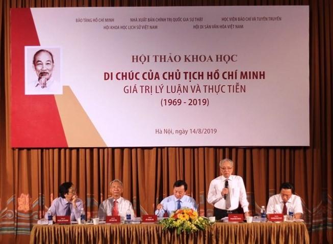 """Seminar """"Testament des Präsidenten Ho Chi Minh – Theoretische und praktische Werte"""" - ảnh 1"""