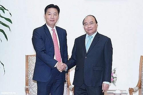응우옌 쑤언 푹 총리, 일본 대사 및 AEON그룹 지도자 접견 - ảnh 1