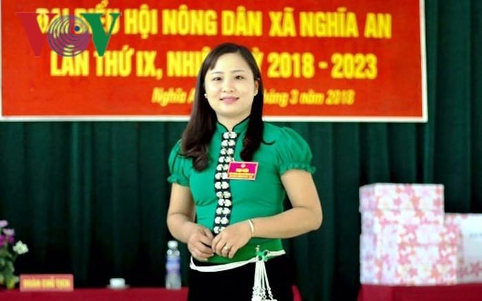 អ្នកស្រី Luong Thi Hoan ប្រធានសមាគមនារីដ៏សកម្មនៅខេត្ត Yen Bai - ảnh 1