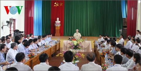 អគ្គលេខាបក្សកម្មុនិស្តវៀតណាម Nguyen Phu Trong អញ្ជើញទៅបំពេញទស្សនកិច្ចកាងារនៅខេត្ត Bac Giang - ảnh 1