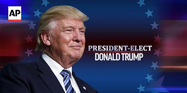 មហាសិទ្ធី Donald Trump ជាប់ឆ្នោតជាប្រធានាធិបតីអាមេរិកឆ្នាំ ២០១៦  - ảnh 1