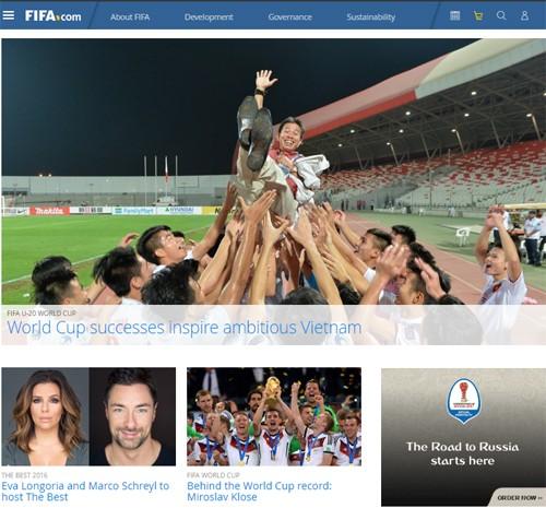កីឡាបាល់ទាត់វៀតណាមត្រូវបានលើកសរសើរលើគេហទំព័រ FIFA - ảnh 1