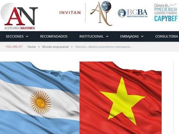 越南是阿根廷重要的贸易伙伴 - ảnh 1