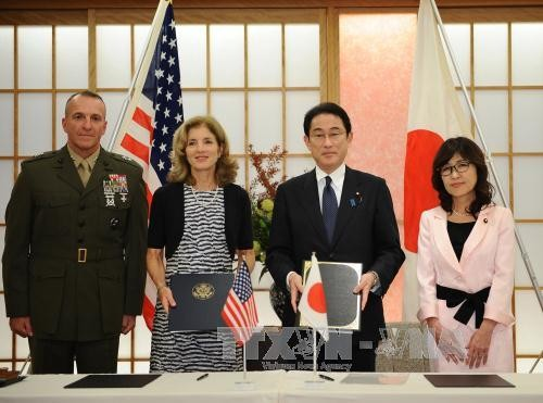 日本和美国签署扩大相互提供物资劳务协定 - ảnh 1