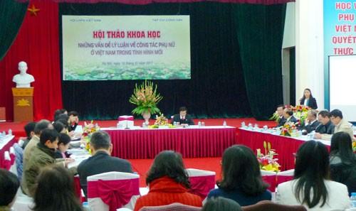 新形势下越南妇女工作的理论问题 - ảnh 1