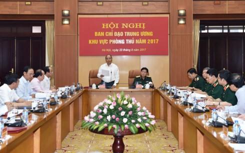 阮春福出席防守区中央指导委员会第一次会议 - ảnh 1