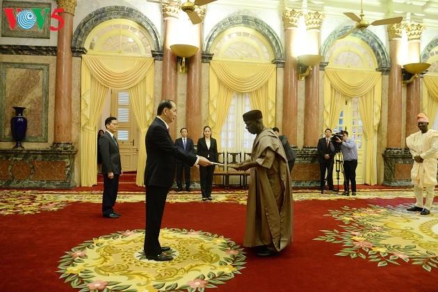 陈大光会见前来递交国书的尼日利亚、希腊和美国新任驻越大使 - ảnh 1