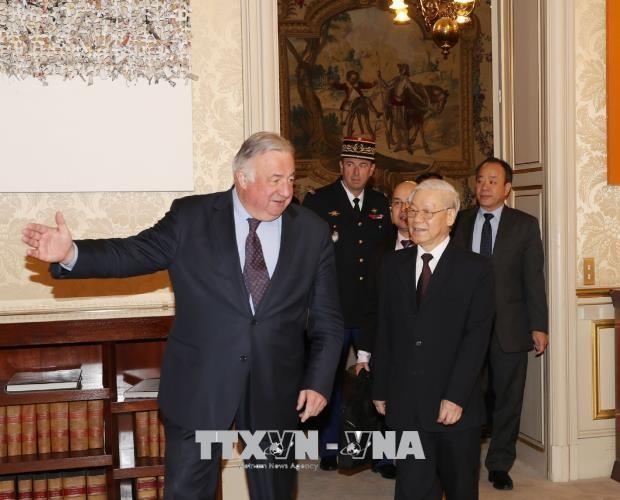 阮富仲会见法国参议院议长拉尔谢 - ảnh 1