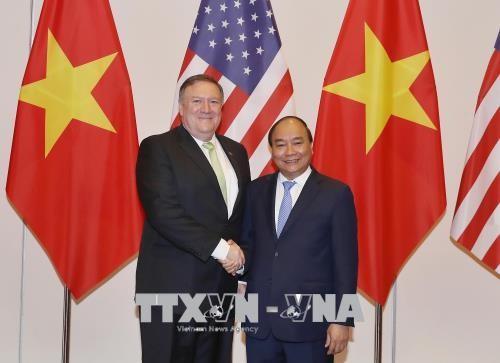 越南政府总理阮春福会见美国国务卿蓬佩奥 - ảnh 1