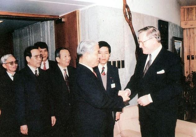 原越南共产党中央委员会总书记杜梅与世界多国领导人的资料图片 - ảnh 19