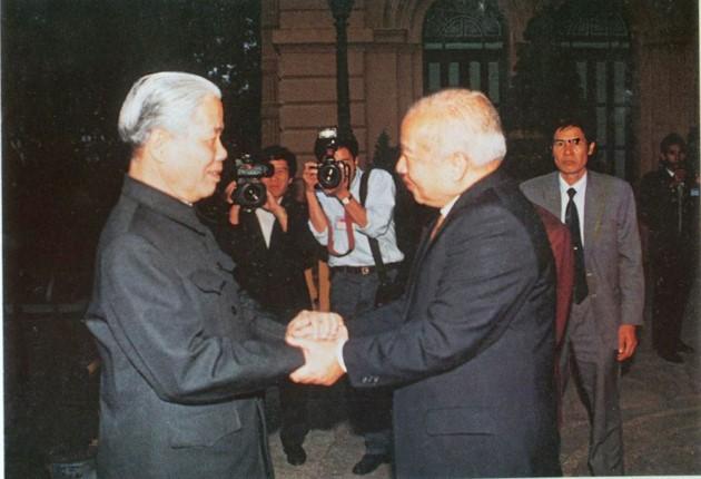 原越南共产党中央委员会总书记杜梅与世界多国领导人的资料图片 - ảnh 6