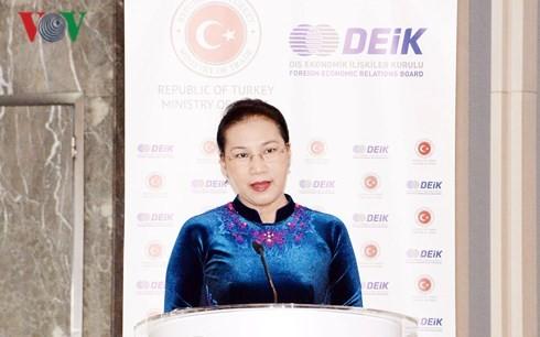 越南国会主席阮氏金银出席土耳其和越南营商投资论坛 - ảnh 1