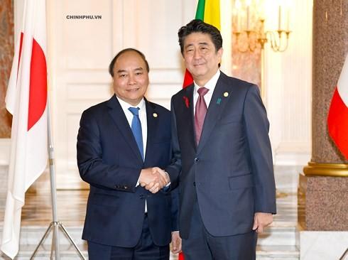 阮春福出席第十届湄公河流域国家与日本峰会记者会 - ảnh 1