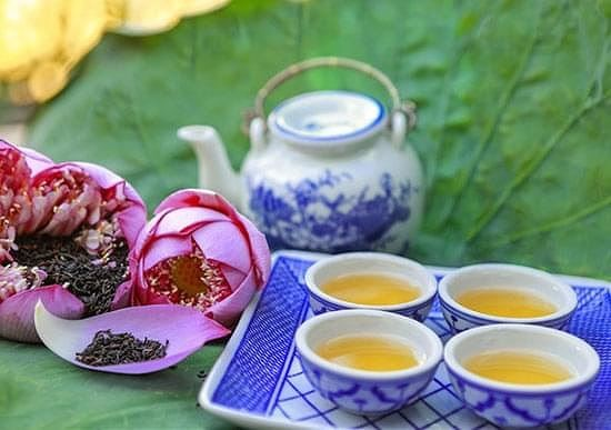 西湖莲花茶的文化美 - ảnh 1