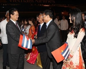 Prime Minister Nguyen Tan Dung begins an official visit to Cuba - ảnh 1