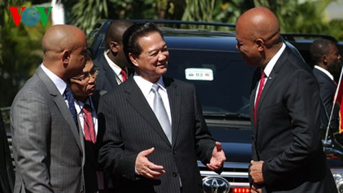 Prime Minister Nguyen Tan Dung wraps up visit to Haiti  - ảnh 1