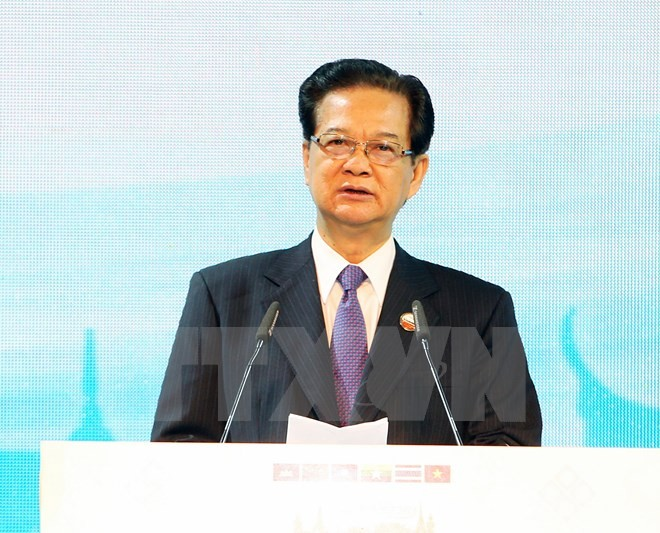 Prime Minister Nguyen Tan Dung concludes his visit to attend the 5th Greater Mekong Sub region Summi - ảnh 1