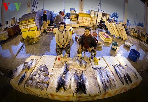 Tho Quang fishing port in spring  - ảnh 12