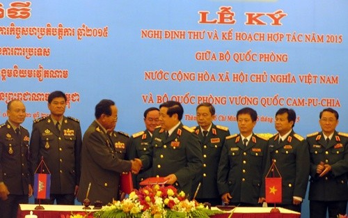 Vietnam and Cambodia strengthen defense cooperation - ảnh 1