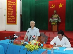 Party leader visits Tra Vinh province - ảnh 1