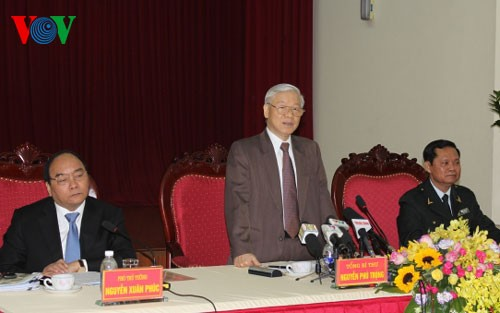Party leader Nguyen Phu Trong works with Government Inspectorate - ảnh 1