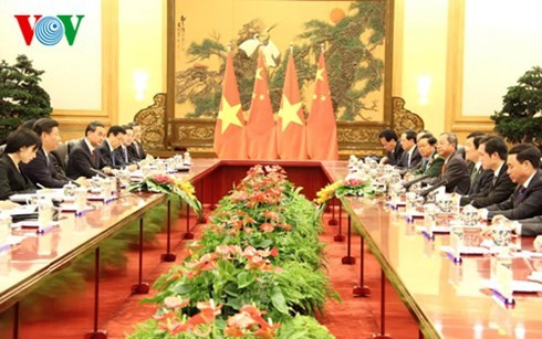 President Truong Tan Sang meets Party General Secretary and President Xi Jinping - ảnh 1
