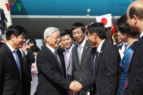 Official reception held for Party leader Nguyen Phu Trong in Japan - ảnh 2