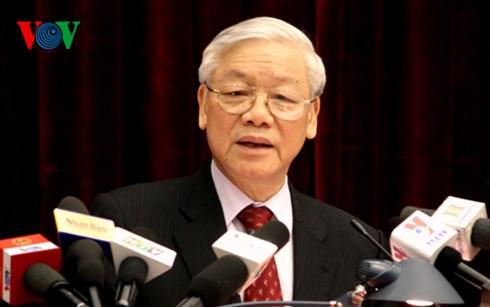 Party General Secretary chairs anti corruption meeting  - ảnh 1
