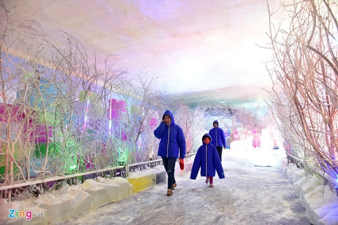 Kids escape heat at Saigon Polar Expo - ảnh 3
