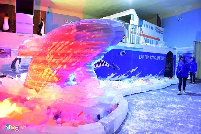 Kids escape heat at Saigon Polar Expo - ảnh 5