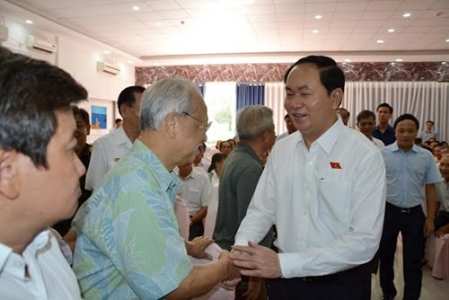 President Tran Dai Quang meets voters from Ho Chi Minh city - ảnh 1