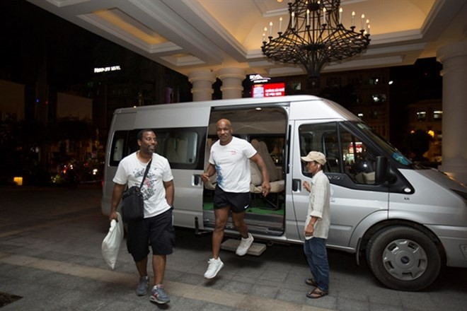 Mike Tyson in HCM City for filming - ảnh 1