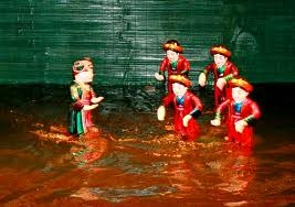Water puppetry of Nguyen village, Thai Binh province - ảnh 2